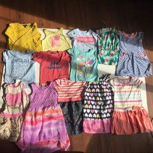Girls 5T lot of 19 items